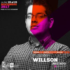Ricardo Willson participa como invitado en la Bienal del Cartel de Bolivia 2017