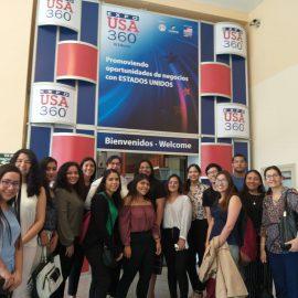 Sansanos asisten a feria Expo USA 360